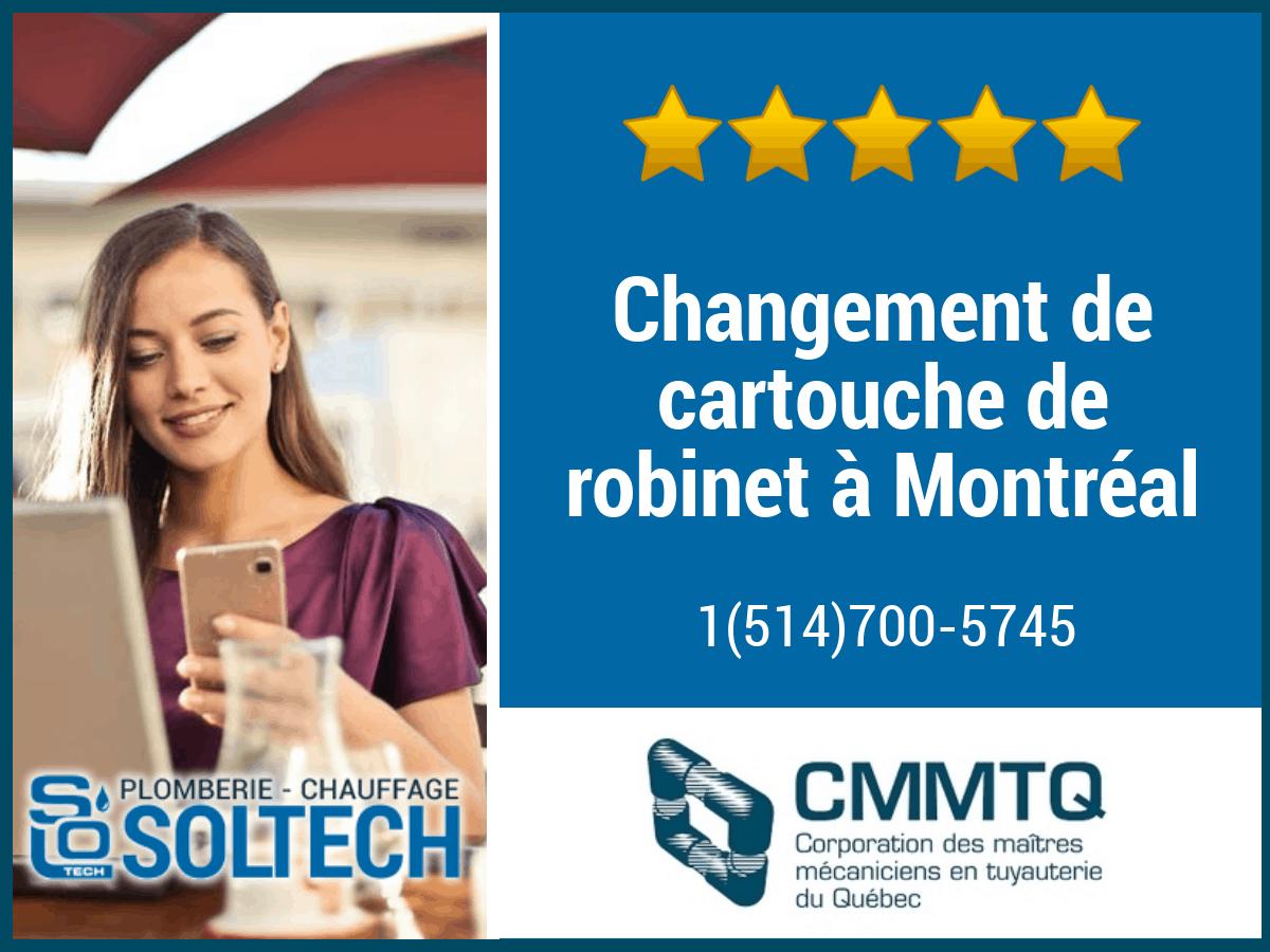 Changement De Cartouche De Robinet à Montréal
