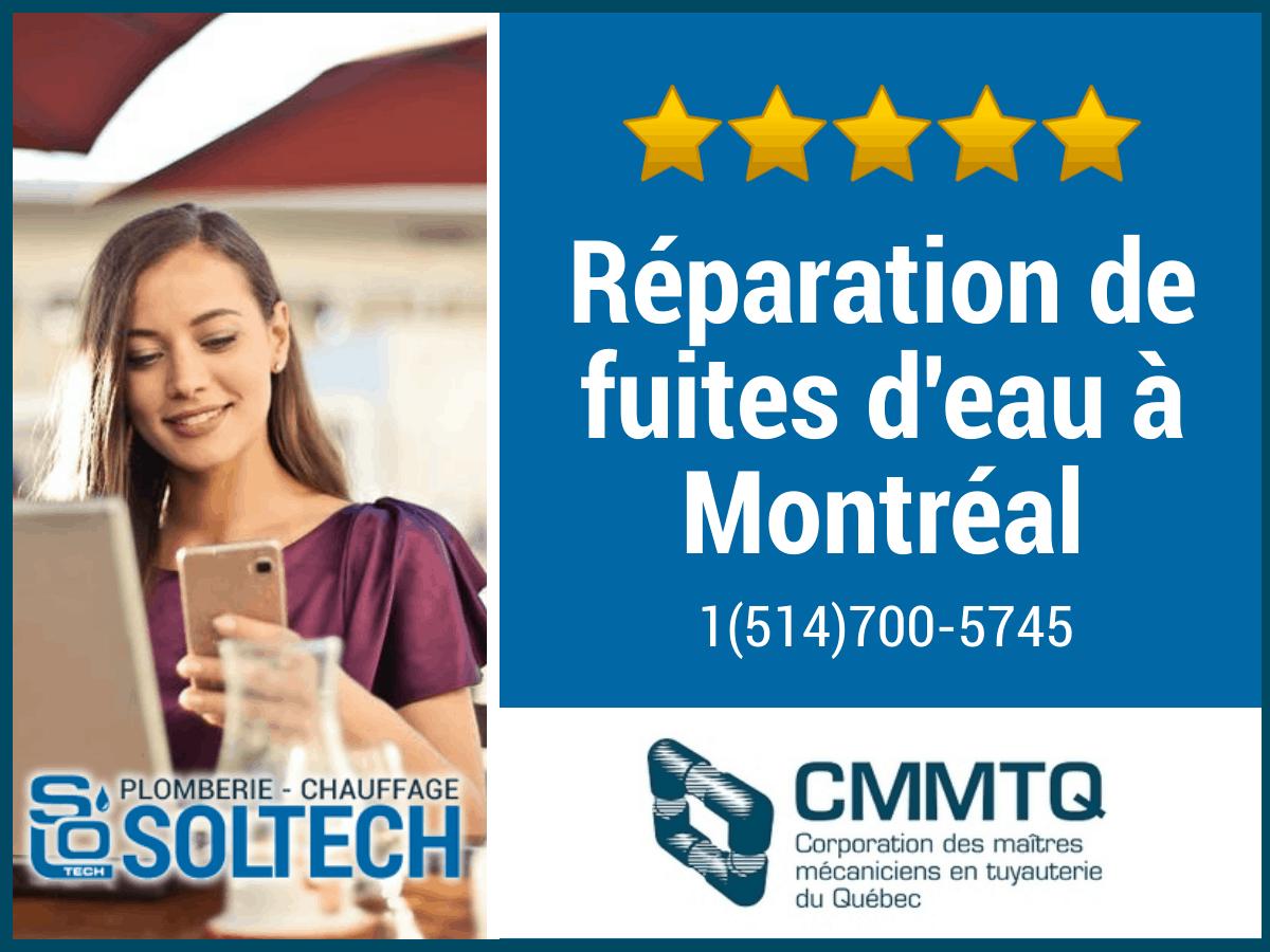 Réparation De Fuites D'eau à Montréal