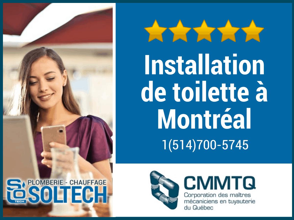 Installation De Toilette à Montréal